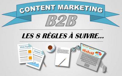 Infographie Content Marketing – Les 8 règles à suivre…